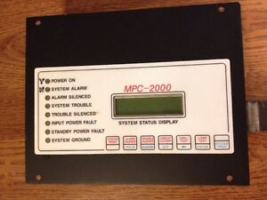 Faraday Mpc 2000 Status Display 444795 Siemens Pyrotronics Fire Alarm Annunc
