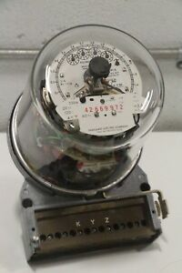 Sangamo Electric Type S5da Kilowatt Hour Meter Type Dr 5 120v 4w