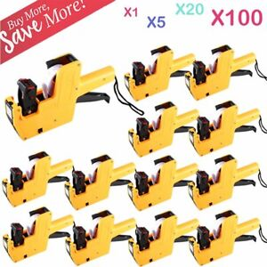 1 100x Lot Mx 5500 Eos 8 Digits Price Tag Gun Sticker Labels ink Yellow B