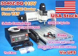 3 Axis 3040z dq Desktop Ball Screw Cnc Router Engraving Milling Machine 220v us