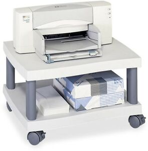 Home Compact Office Under Desk Printer Plastic Stand With Paper Storage Shelf