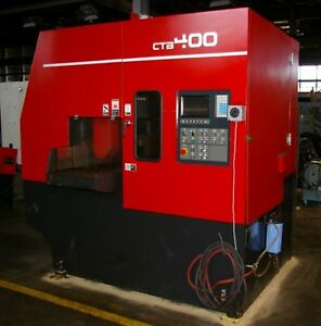Amada Model Ctb400 16 9 capacity Cnc Vertical Carbide Band Saw 10hp 220v 3ph