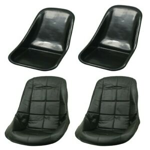 Low Back Seat Shells Impact Plastic With Black Covers Pair Dunebuggy