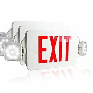 Etoplighting 3set Led Exit Sign Emergency Lighting Emergency With Rotate Led