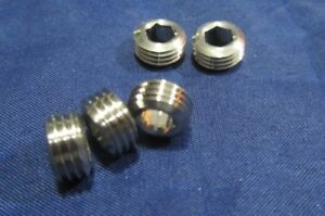 Stainless Steel Hollow Jam Set Screws 3 8 24 X 3 16 Height 5 Pieces