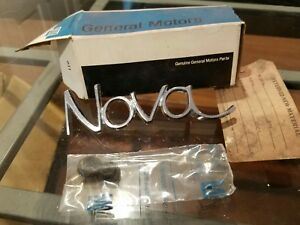 Nos New Original Gm Chevy Nova Emblem Name 3953676 1968 1969 1970 1971 1972 1973