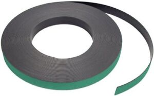 Flexible Magnet Strip With Green Vinyl Coating 1 32 Thick 2 Height 50 Feet