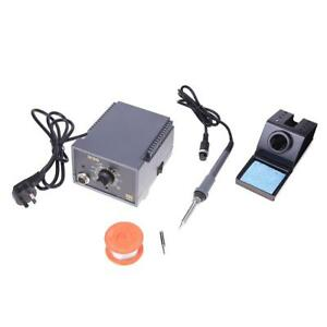 60w Electric Soldering Solder Welding Iron Station Set Kit Antistatic Thermostat