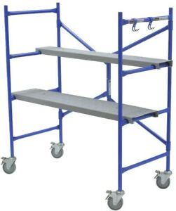 Werner 4 Ft X 3 8 Ft X 2 Ft Portable Rolling Scaffold 500 Lb Load Capacity