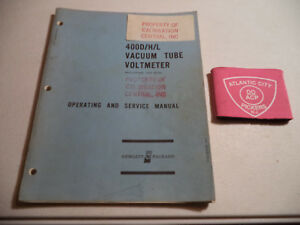 Hp 400d h l Vacuum Tube Voltmeter Operating Service Manual printed 1969