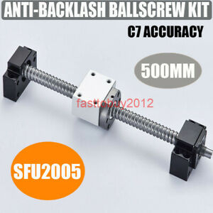 Ball Screw Sfu2005 C7 5mm Screw Pitch Bk15 Bf15 L500mm support Coupler ball Nut