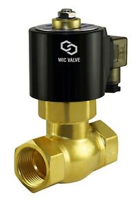 1 2 Inch Brass Hot Water Steam High Pressure Electric Solenoid Valve Nc 24v Ac