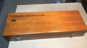 Gorman Transformer Winding Machine Wood Tool And Parts Box 21x7x4 In