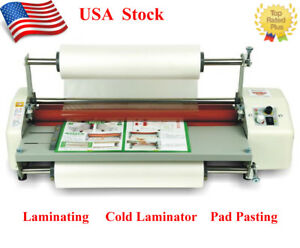 17 3 A2 Roll Laminator Speed Adjustable Four Roller Hot Cold Laminating Machine
