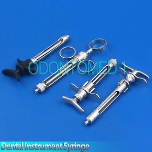 Dental Instrument Professional Cartridge Syringe Anesthetic Dentist Lab 4 Pieces
