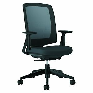 Hon Lota Office Chair Mid Back Mesh Desk Chair Or Conference Room Chair Black