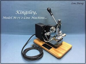 Kingsley Machine Model M 75 Accessories Hot Foil Stamping Machine