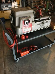 Ridgid 535 Pipe Threader With Foot Control Plus Extras