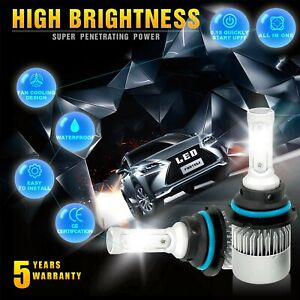 9004 Hb1 Led Headlight Kit Hi Lo Beam 1950w 292500lm Car Light Bulbs 6000k White