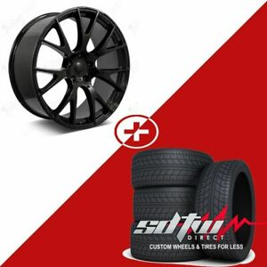 22 Hellcat Style Wheels Tires Fits Dodge Ram 1500 2wd 4wd Durango Dakota Black