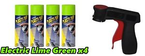 Performix Plasti Dip Electric Lime Green 4 Pack 11oz Aerosol Cans Spray Trigger
