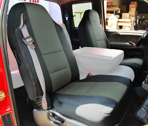 Dodge Ram 1998 2002 Black Charcoal S Leather Custom Made Fit Front Seat Cover