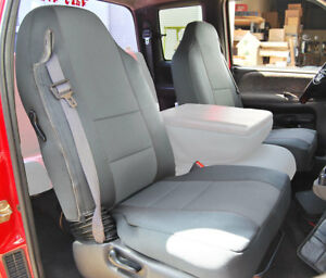 Dodge Ram 1998 2002 Grey S Leather Custom Made Fit Front Seat Cover