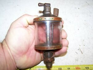 Old American Injector 4 Size Brass Hit Miss Gas Engine Oiler Steam Tractor Nice