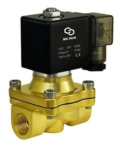 Brass Zero Differential Electric Water Solenoid Process Valve 12v Dc 3 8 Inch