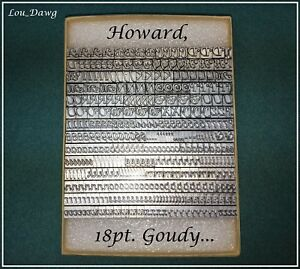 Howard Machine Personalizer 18pt Goudy Cursive Hot Foil Stamping Machine