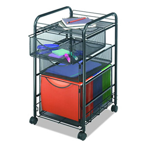 Office File Cart Mesh Style 1 File Drawer 2 Storage Drawers Rolling Portable New