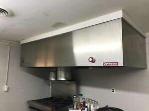 Captiveaire 8 8ft Commercial Vent Hood Restaurant Exhaust Ss Hood System