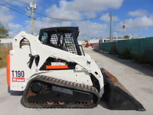 2011 Bobcat T 190 Turbo Skid Steer Track Loader Excellent Tracks Work Ready