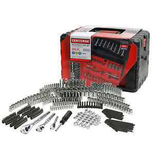 Craftsman 320 piece Mechanic Tool Set W Case Socket Wrench Ratchet Bit Kit