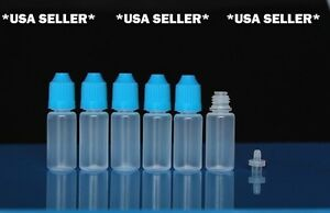 1200pcs 10ml Empty Plastic Sqeezable Dropper Bottle Bottles Eye Liquid Dropper