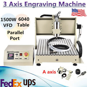 6040 3 Axis Cnc Router Engraver Engraving Drilling Milling Machine 1 5kw Spindle