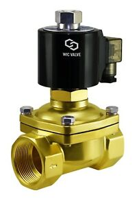 1 1 2 Inch Normally Open Brass Zero Differential Electric Solenoid Valve 12v Dc