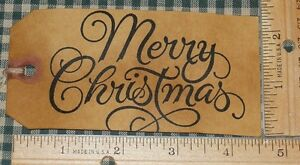 25 Large Merry Christmas Primitive Gift Craft Banquet Decor Party Hang Tags