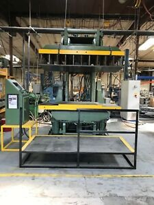 Cincinnati Milacron 75 Ton 36 x 72 Platen 90 Tilting Hydraulic Platen Press