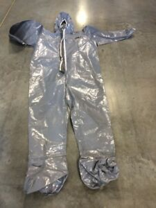 New Dupont Tychem F Chemical Suit High Endurance Nbc Free Ship