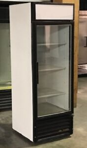 Used True Single Glass Door Freezer Merchandiser Led Lighting