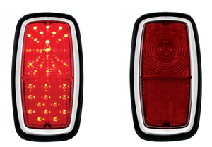 Pair 2 Red Led Brake Stop Turn Tail Lights For 1962 1968 Shelby Cobra