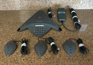 Polycom Soundstation Premier Base Power Supply And Three External Microphones