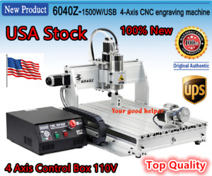 us 6040 4 Axis Usb Mach3 1500w 1 5kw Cnc Router Engraving Milling Machine 110v