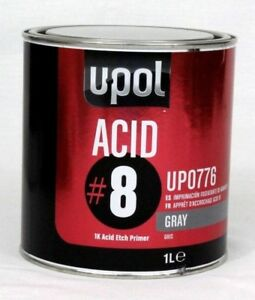 Acid Etch Primer U Pol Acid 8 Gray Up0776 1k Dtm Liter