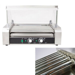Popcorn Commercial 18 Hot Dogs 7 Roller Grilling Machine Easy Used In Business