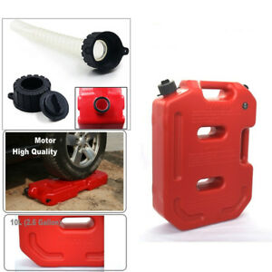 Portable 10l Jerry Can Suv Car Diesel Oil Fuel Tank Vehicle Recovery Extraction