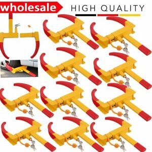 10 X Wheel Lock Clamp Boot Tire Claw Auto Car Truck Rv Trailer Anti Theft Towing
