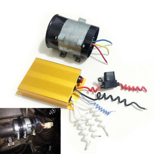 Universal 12v 16 5a Car Electric Turbine Turbo Charger Booster W Controller Box