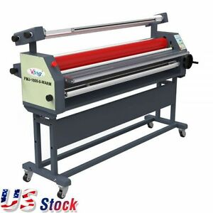63 Full auto Wide Format Laminator Roll Heat Assisted Cold Laminator Us Stock